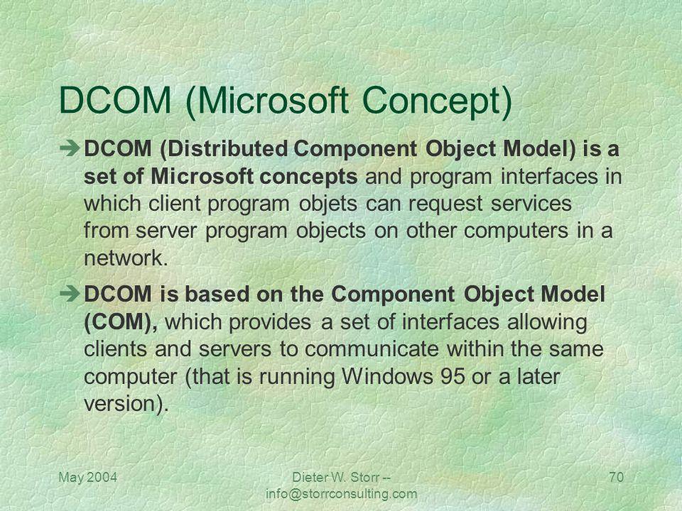 DCOM (Microsoft Concept)