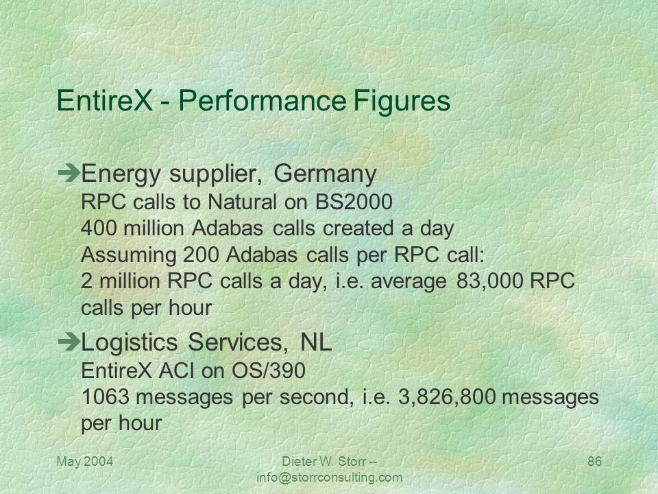 EntireX - Performance Figures