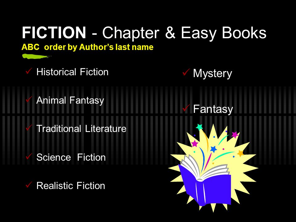 FICTION - Chapter & Easy Books ABC order by Author's last name