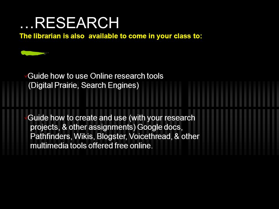 …RESEARCH Guide how to use Online research tools