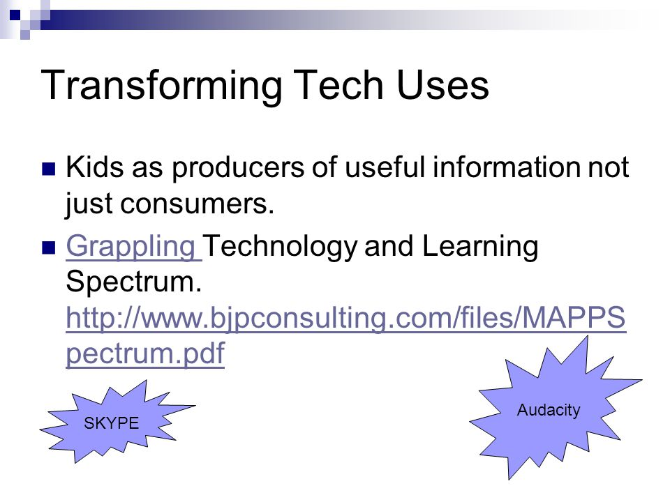 Transforming Tech Uses