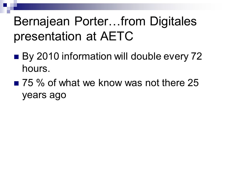 Bernajean Porter…from Digitales presentation at AETC
