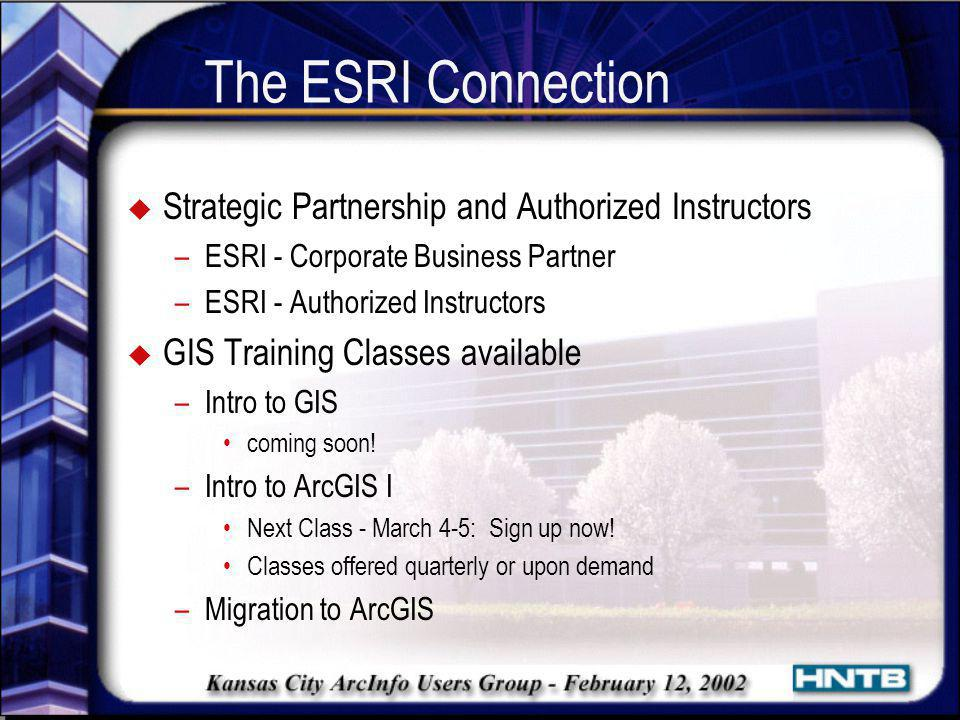 The ESRI Connection Strategic Partnership and Authorized Instructors