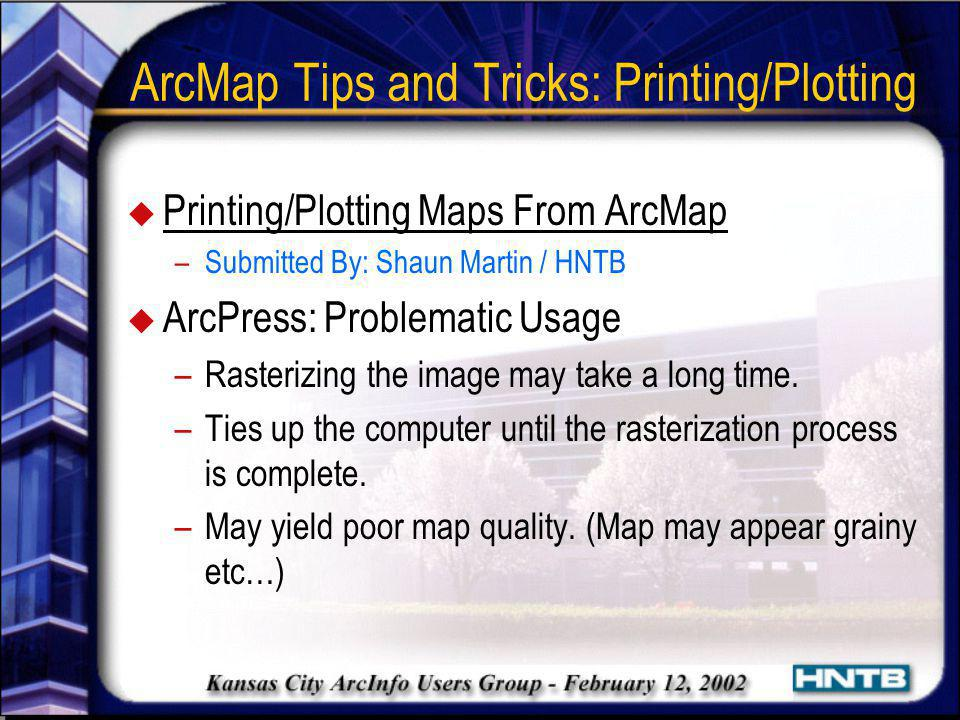 ArcMap Tips and Tricks: Printing/Plotting