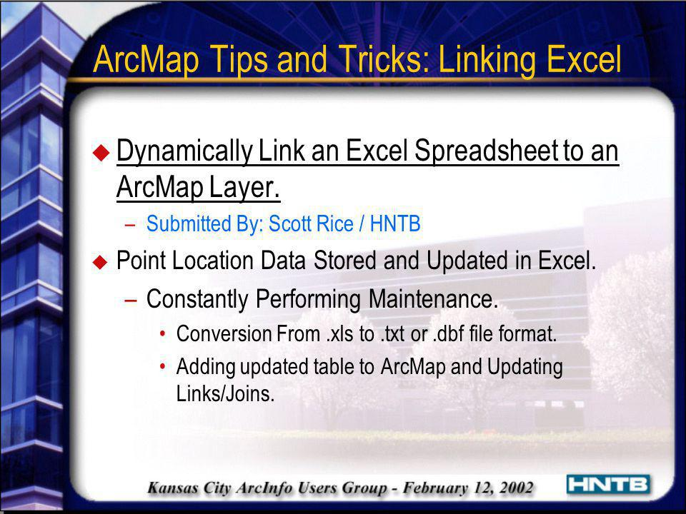 ArcMap Tips and Tricks: Linking Excel