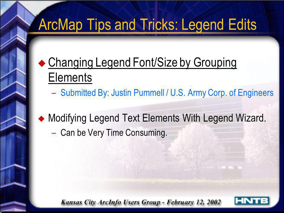 ArcMap Tips and Tricks: Legend Edits
