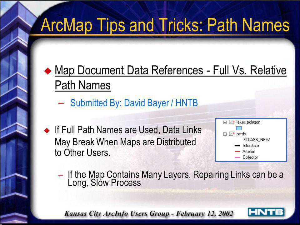 ArcMap Tips and Tricks: Path Names