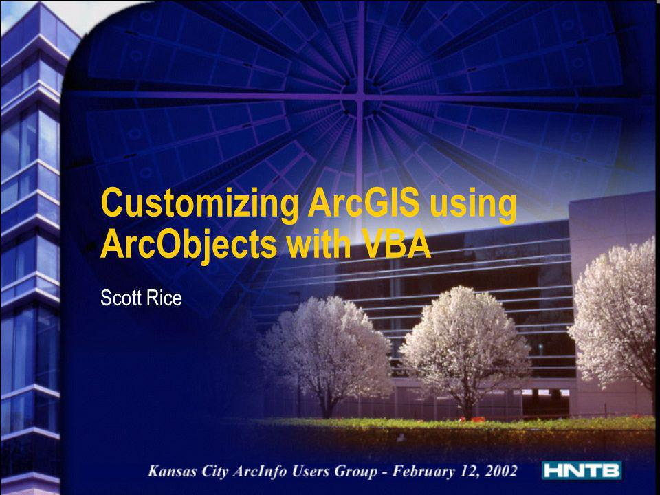 Customizing ArcGIS using ArcObjects with VBA