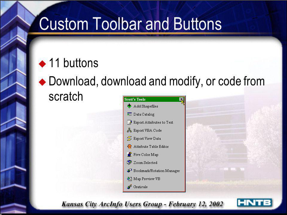 Custom Toolbar and Buttons