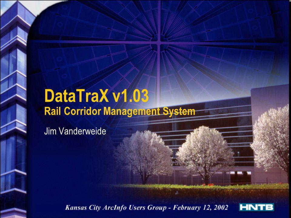 DataTraX v1.03 Rail Corridor Management System