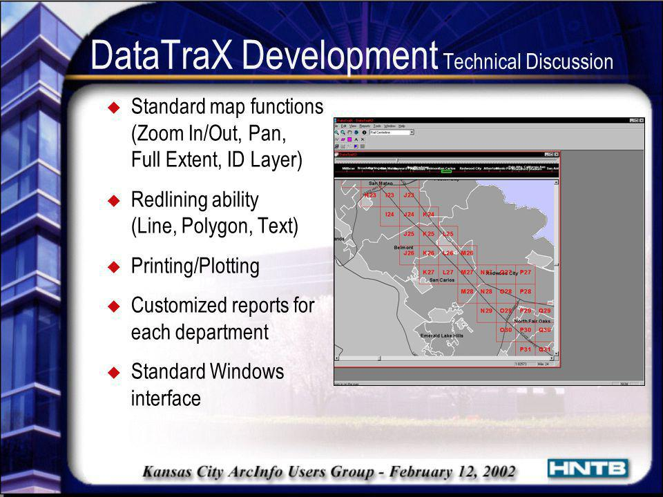 DataTraX Development Technical Discussion