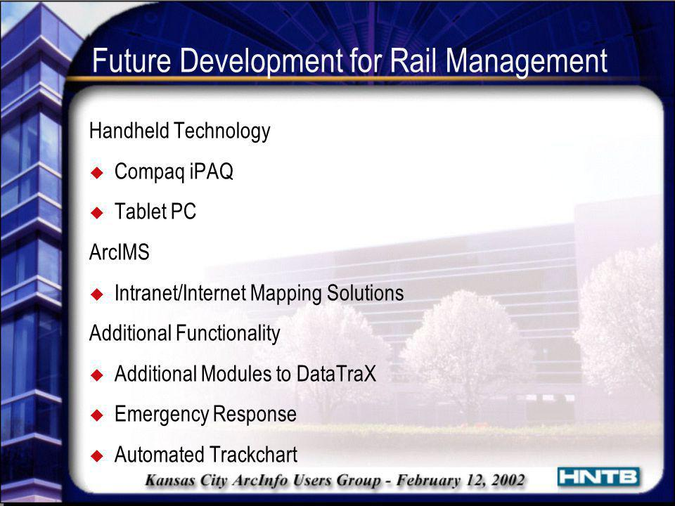 Future Development for Rail Management