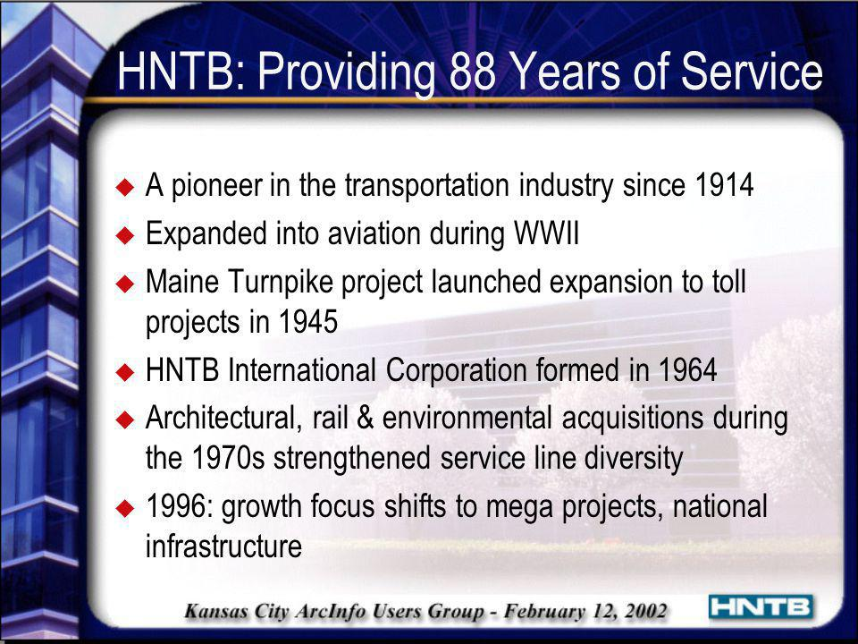 HNTB: Providing 88 Years of Service