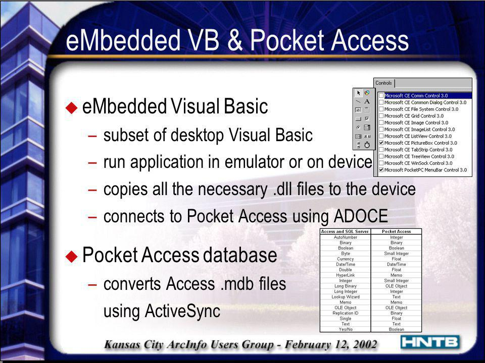 eMbedded VB & Pocket Access