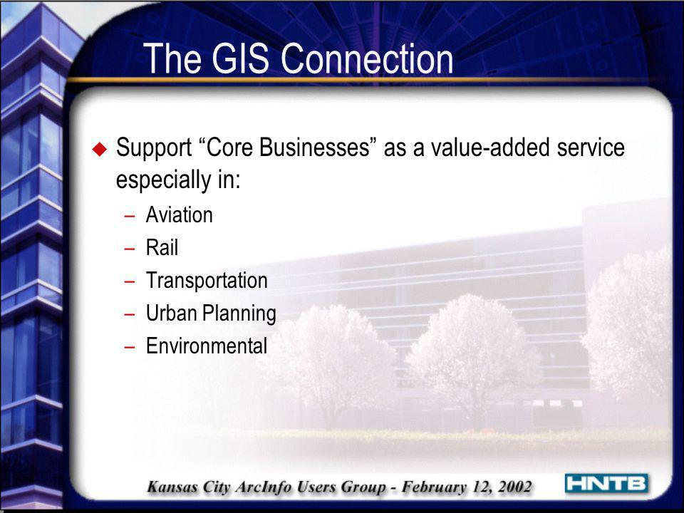 The GIS Connection Support Core Businesses as a value-added service especially in: Aviation. Rail.
