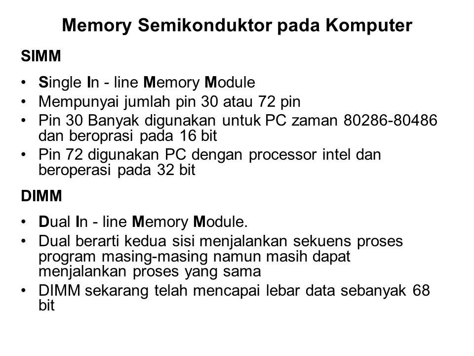 Memory Semikonduktor pada Komputer