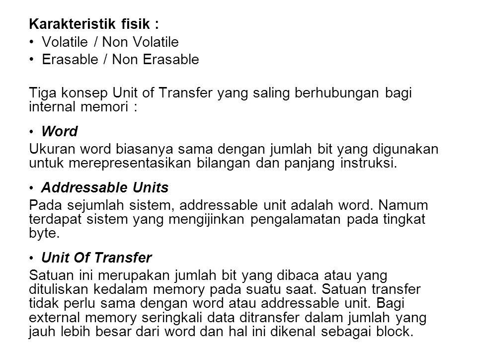 Volatile / Non Volatile Erasable / Non Erasable