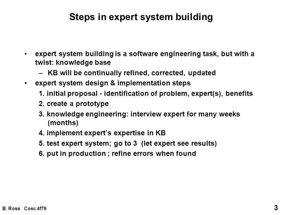 Steps in expert system building