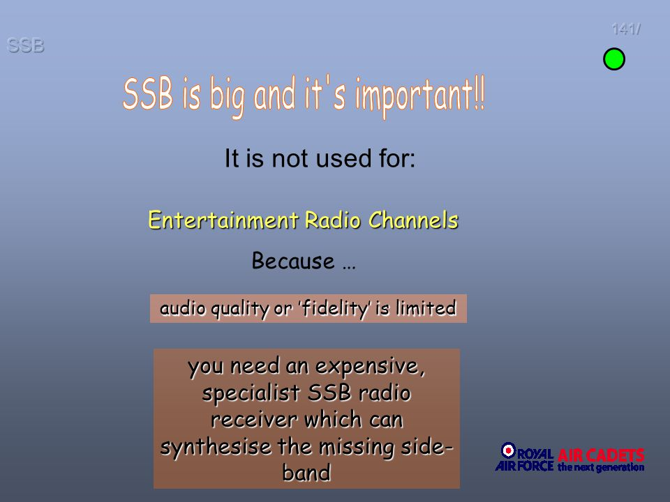 SSB is big and it s important!!