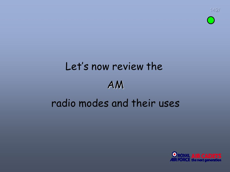 radio modes and their uses