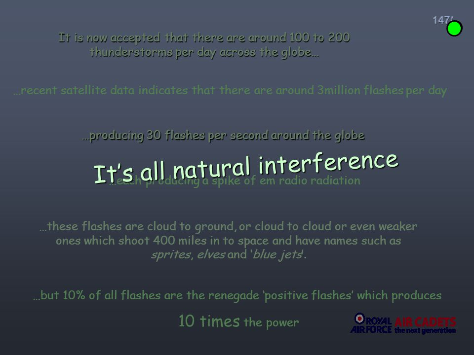 It's all natural interference