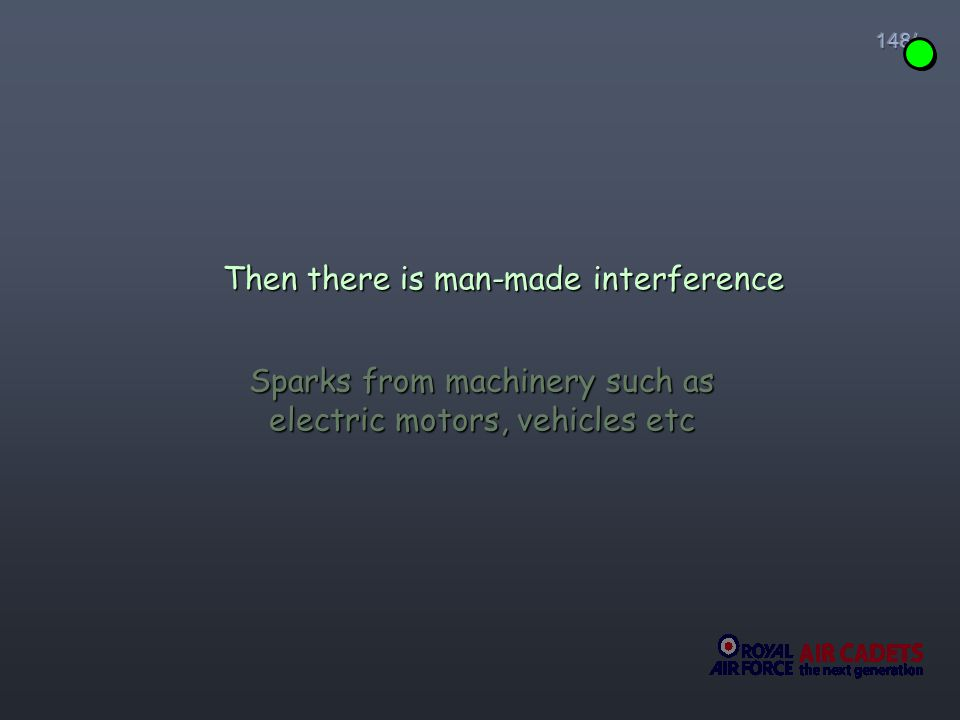 Then there is man-made interference