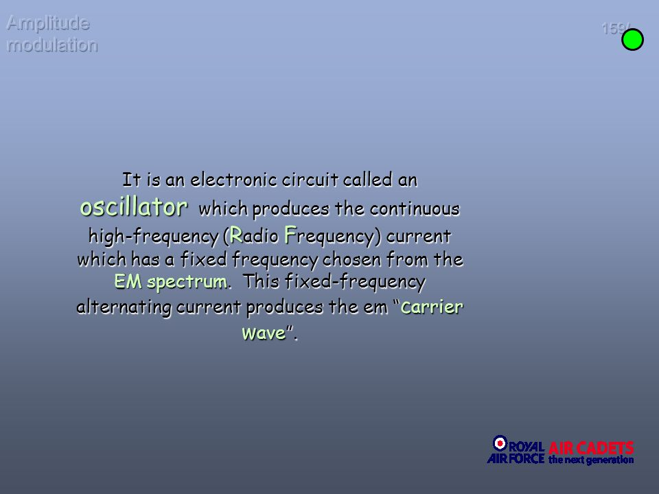 Amplitude modulation 159/