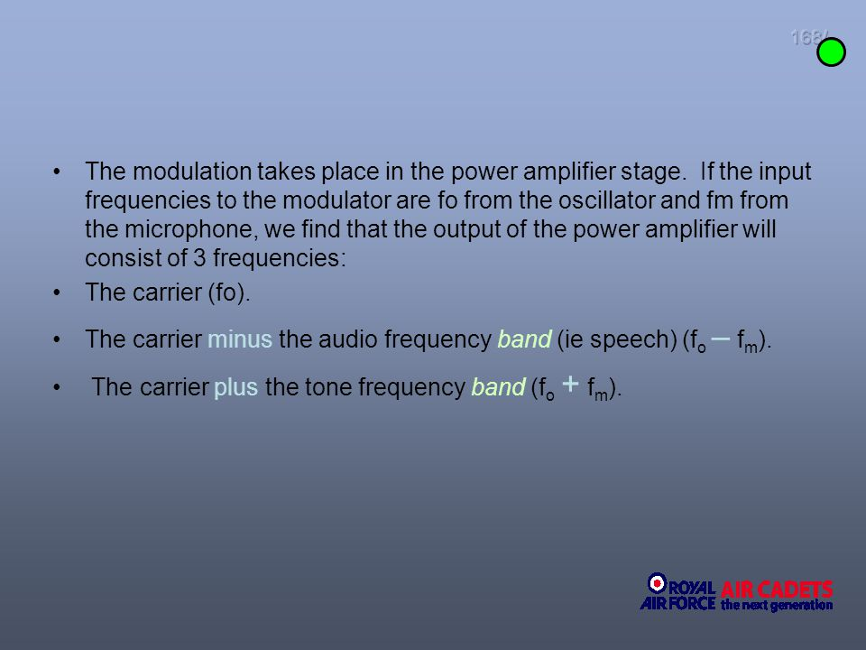 The carrier minus the audio frequency band (ie speech) (fo – fm).