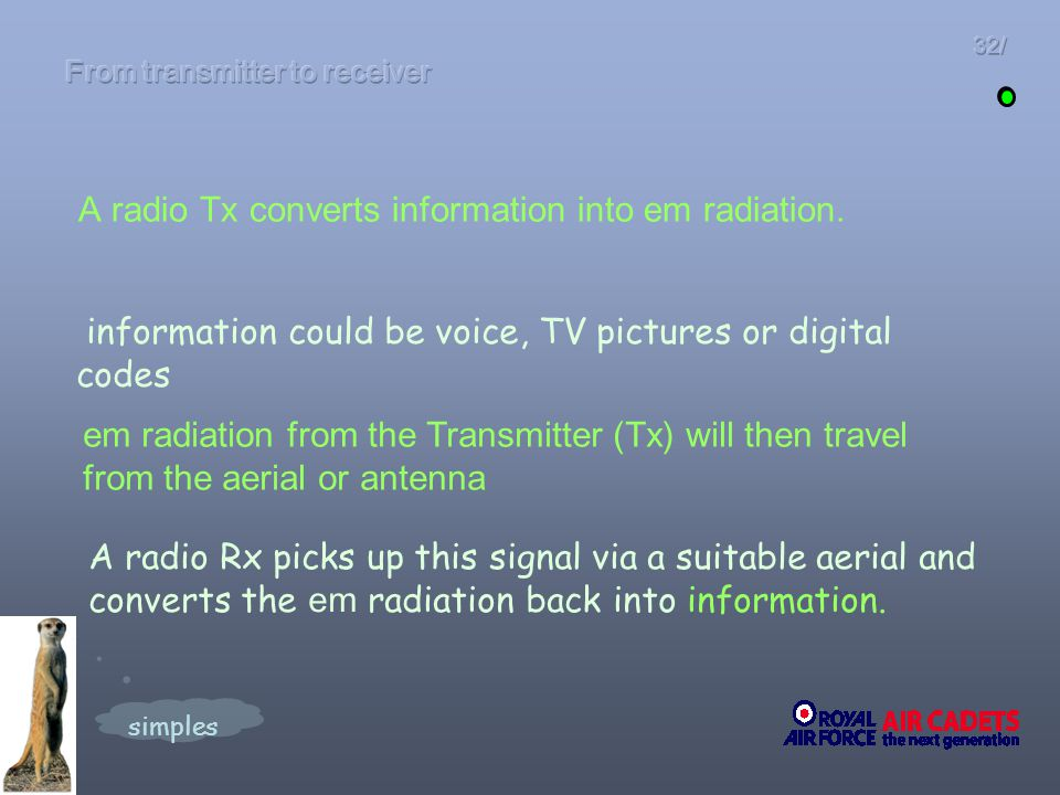 From transmitter to receiver