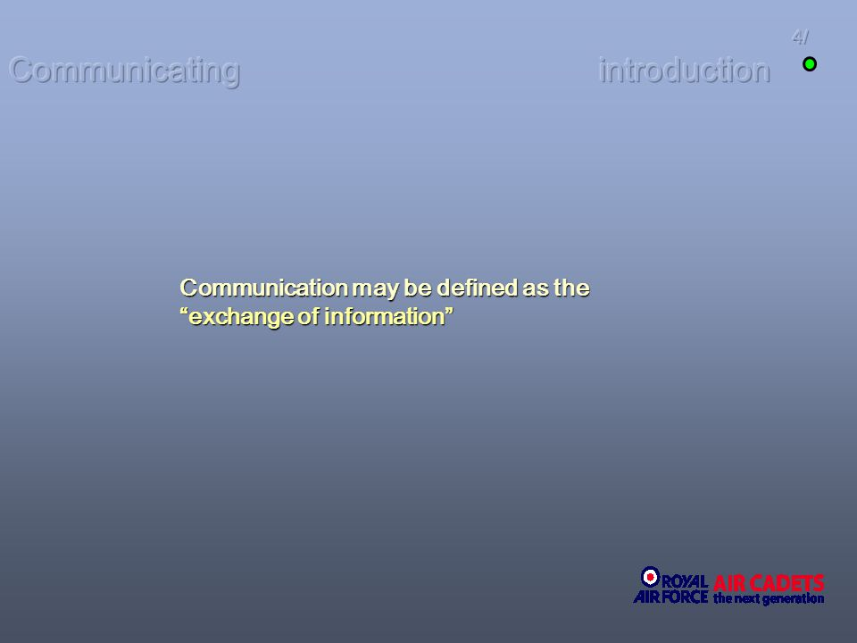 Communicating introduction