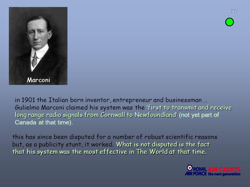 77/ Marconi.