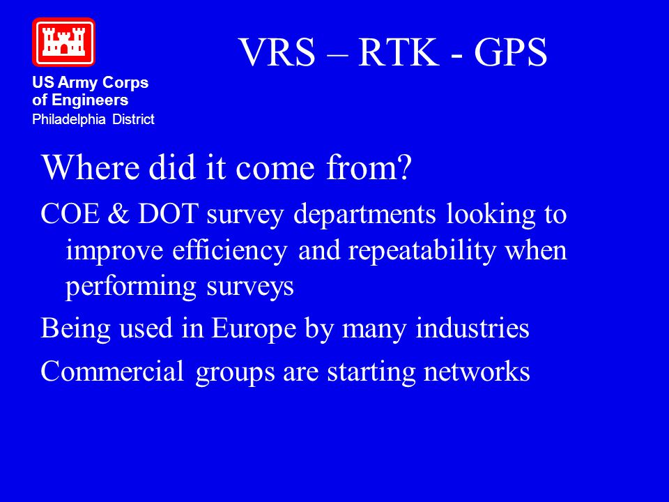 VRS – RTK - GPS Where did it come from