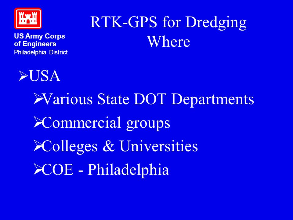 RTK-GPS for Dredging Where