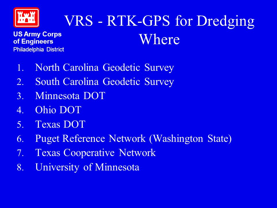 VRS - RTK-GPS for Dredging Where