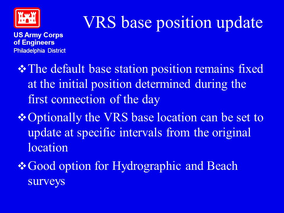 VRS base position update