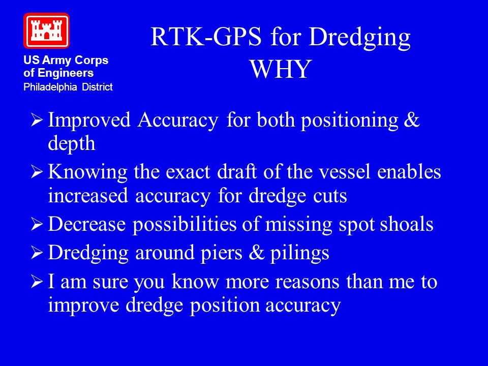 RTK-GPS for Dredging WHY