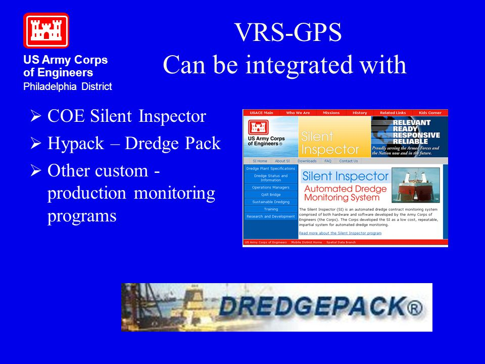 VRS-GPS Can be integrated with