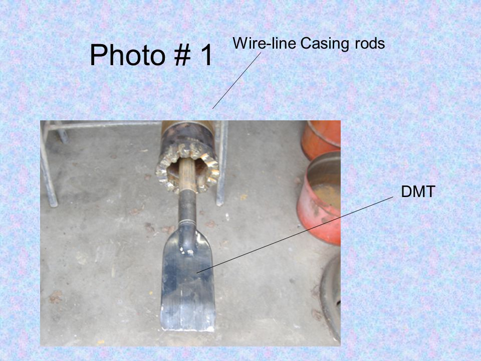 Photo # 1 Wire-line Casing rods DMT