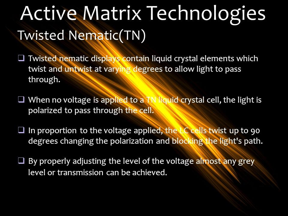 Active Matrix Technologies