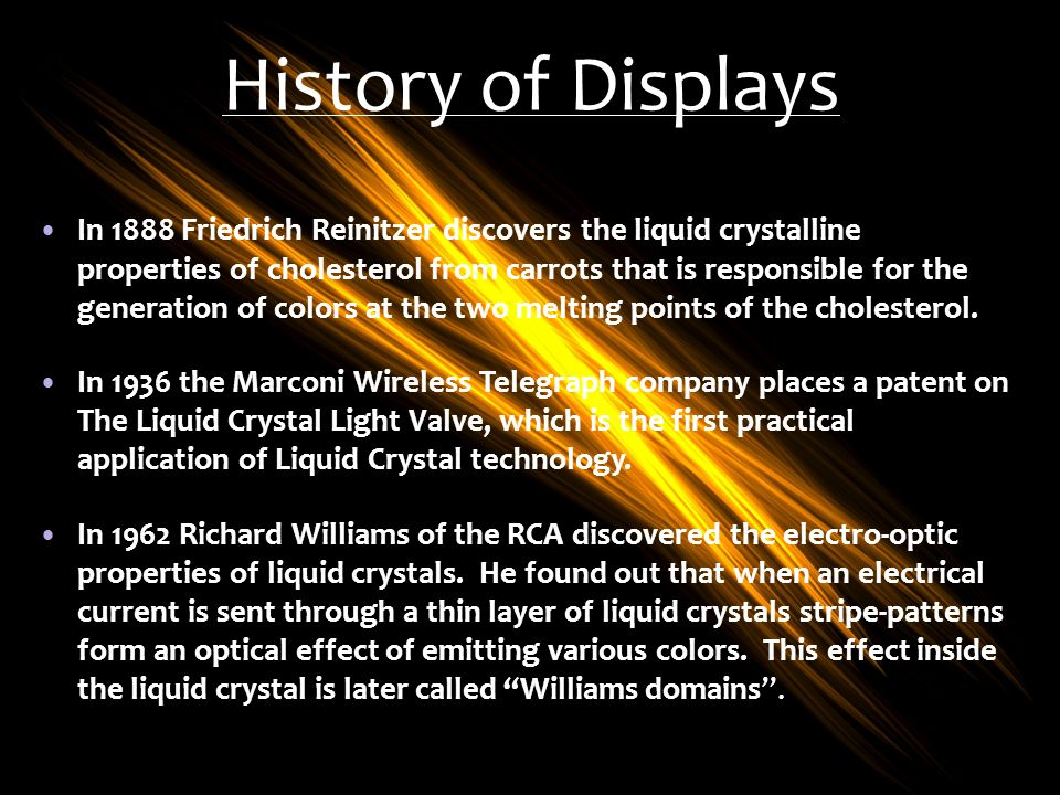 History of Displays