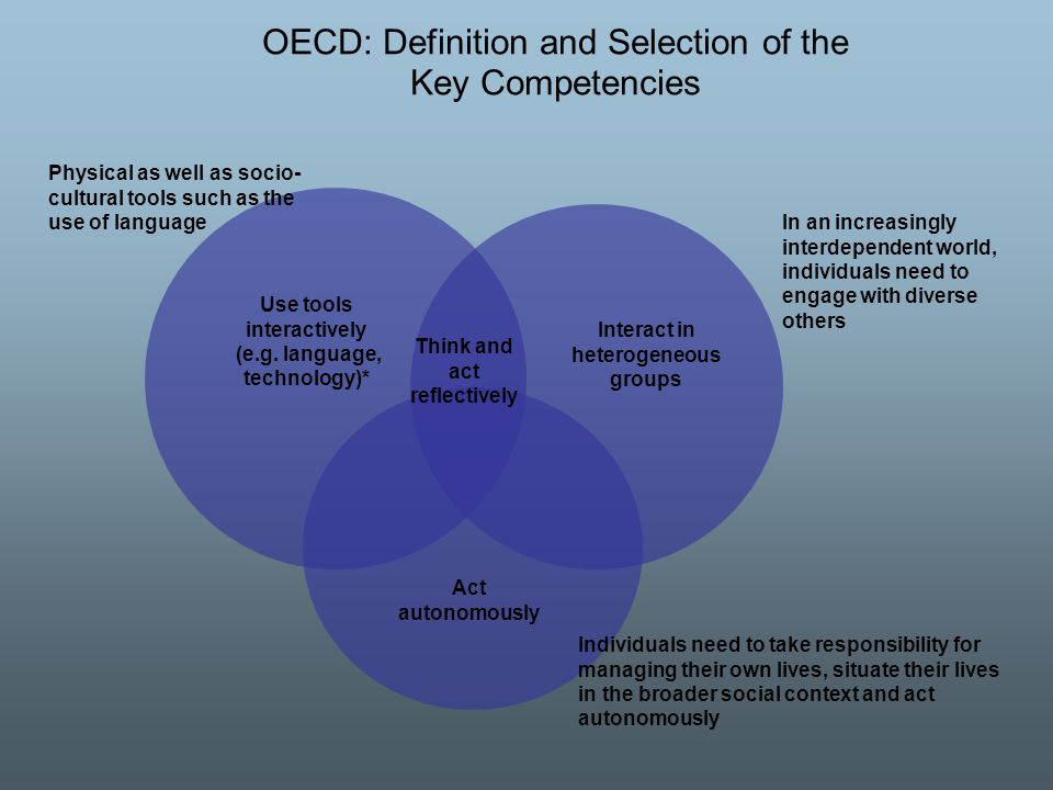 OECD: Definition and Selection of the Key Competencies