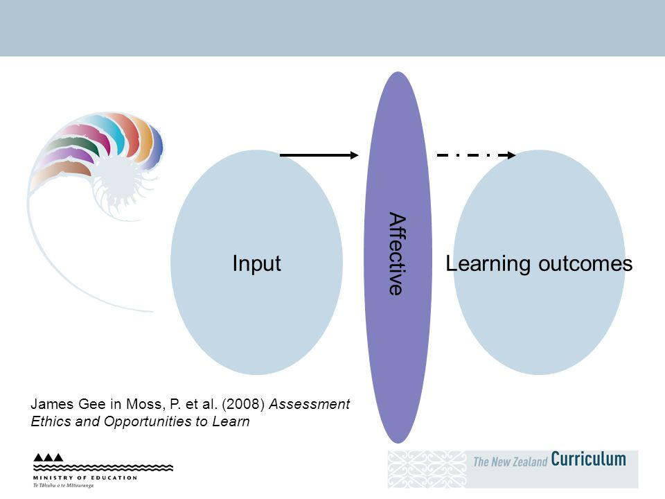 Affective Input Learning outcomes
