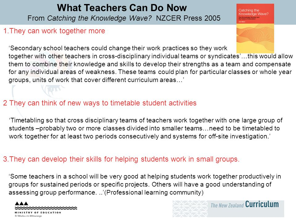 What Teachers Can Do Now