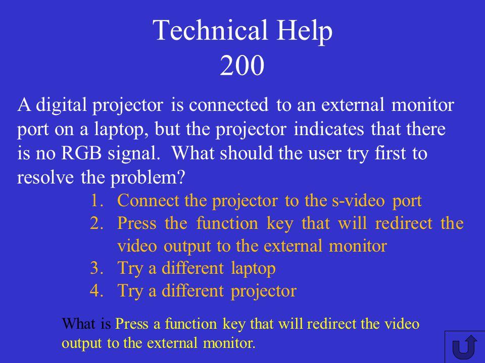 Technical Help 200