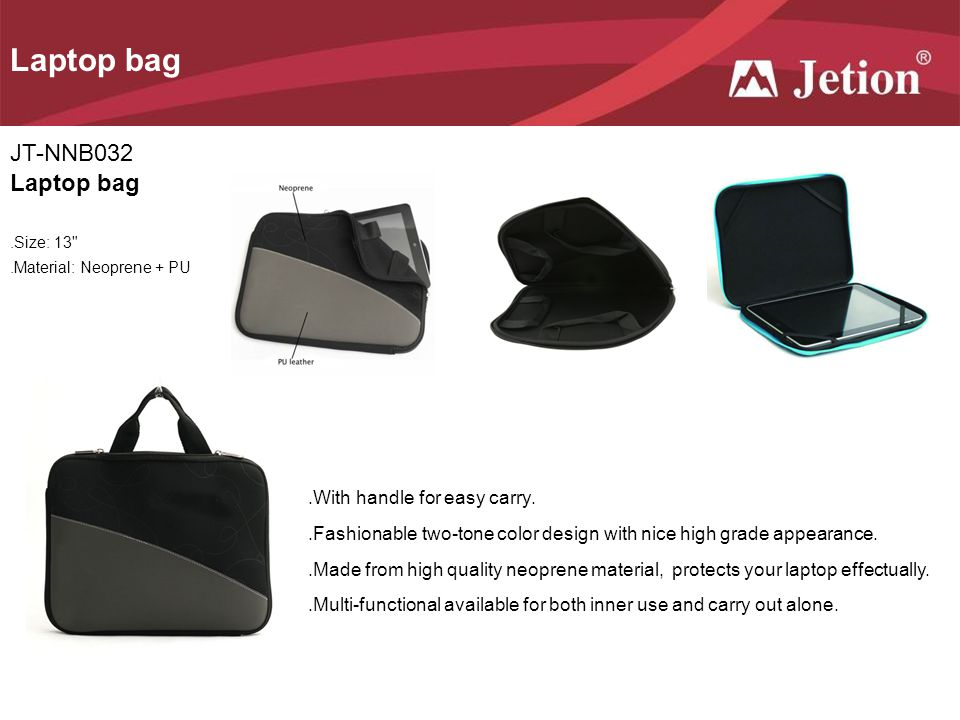 Laptop bag JT-NNB032 Laptop bag .With handle for easy carry.