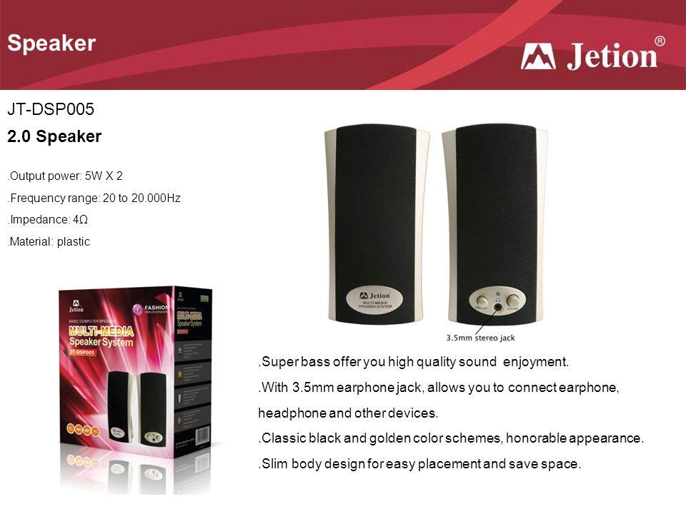 Speaker JT-DSP005 2.0 Speaker