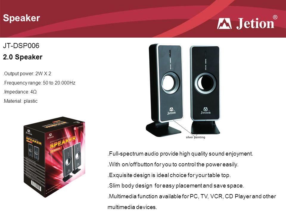 Speaker JT-DSP006 2.0 Speaker