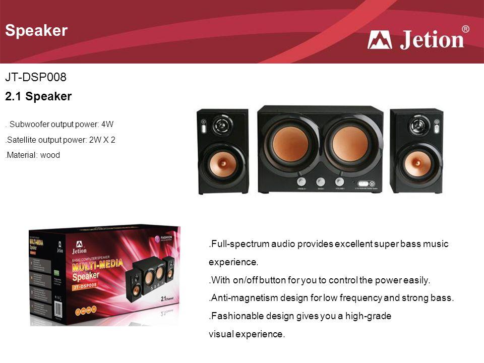 Speaker JT-DSP008 2.1 Speaker
