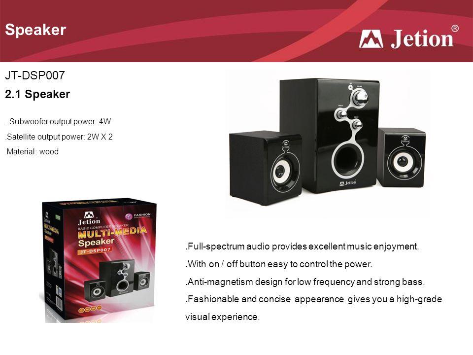 Speaker JT-DSP007 2.1 Speaker