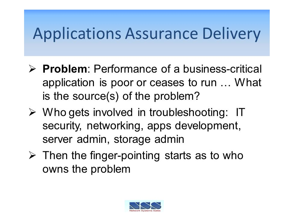 Applications Assurance Delivery